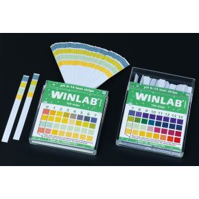 pH indicatorstrips, 0-14 pH